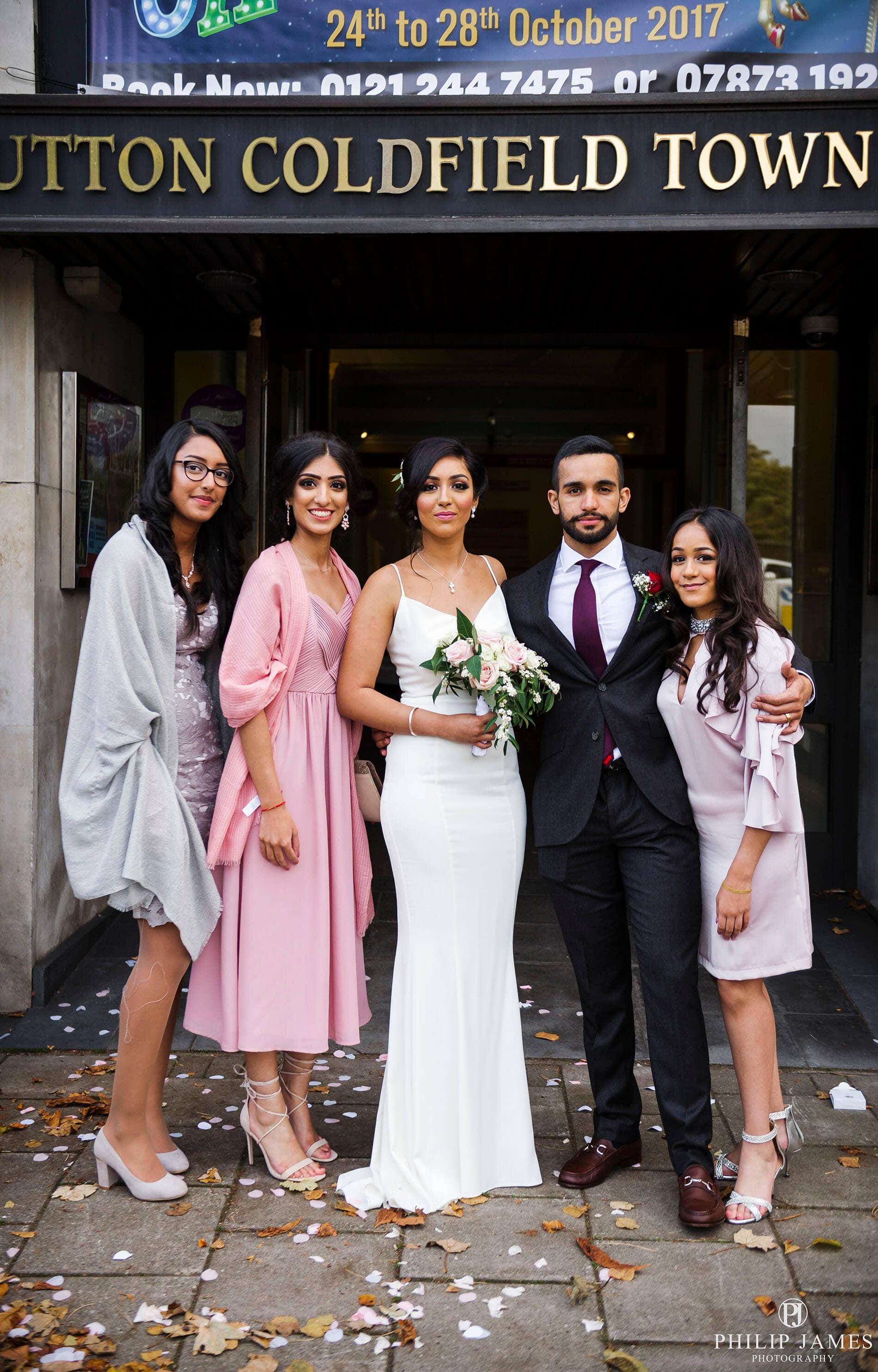 Sutton Coldfield Town Hall wedding photographer | Philip James Photography